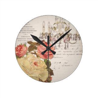 Vintage French Elegance Round Wall Clocks