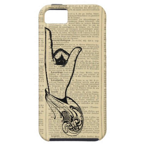 Vintage French Encyclopedia Graphic iPhone Case iPhone 5 Cases