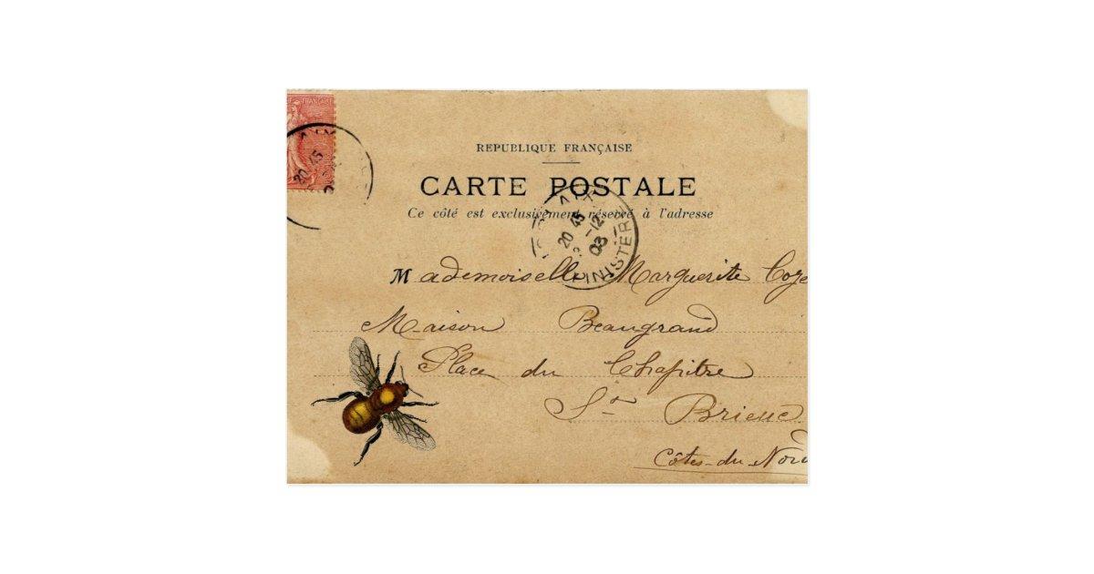 Vintage French Ephemera Postcard | Zazzle