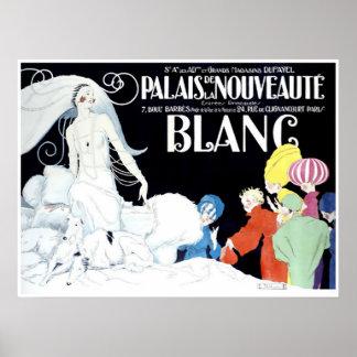 Vintage French Extravagant Fashion Advertising Poster