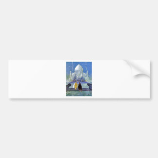 Vintage French Fantasy Fairy Tale Art Painting Car Bumper Sticker