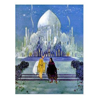 Vintage French Fantasy Fairy Tale Art Painting Postcard