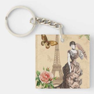 Vintage french fashion elegant keychain