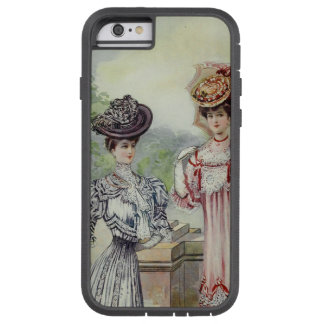 Vintage French Fashion- Gray, Pink Dress Tough Xtreme iPhone 6 Case
