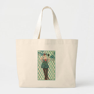 Vintage French Fashion Large Tote Bag
