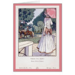 Vintage French Fashion Mother's Day Card