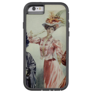 Vintage French Fashion-Pink, Gray, Peach Dress Tough Xtreme iPhone 6 Case