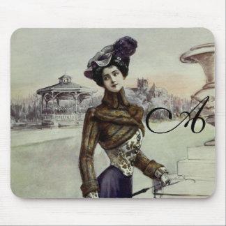 Vintage French Fashion – Violet Dress Mouse Pad