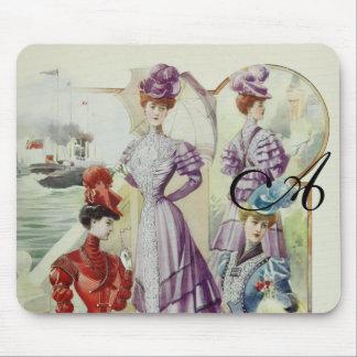 Vintage French Fashion – Violet Dress Mouse Pads