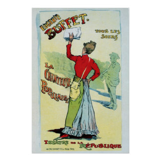 Vintage French female singer Eugenie Buffet ad Poster
