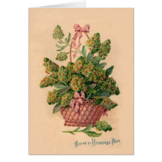 Vintage French Fleurs Illustration Card