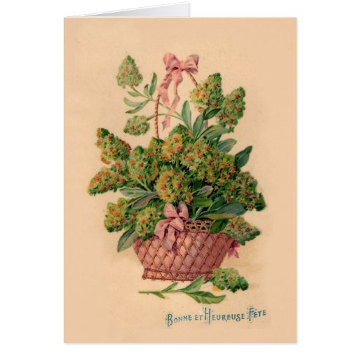 Vintage French Fleurs Illustration Greeting Card