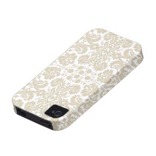 Vintage french floral art nouveau pattern Case-Mate iPhone 4 cover