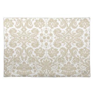 Vintage french floral art nouveau pattern cloth placemat