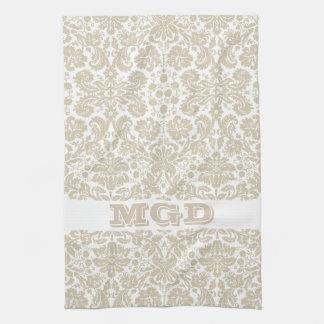 Vintage french floral art nouveau pattern hand towels