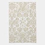 Vintage french floral art nouveau pattern hand towel