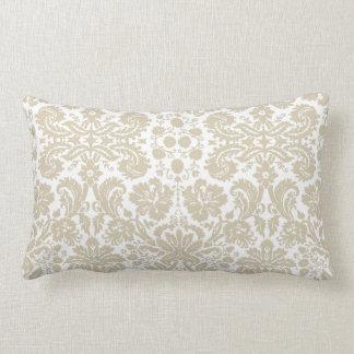 Vintage french floral art nouveau pattern throw pillow