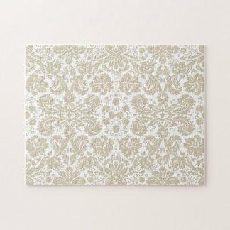 Vintage french floral art nouveau pattern photo puzzles