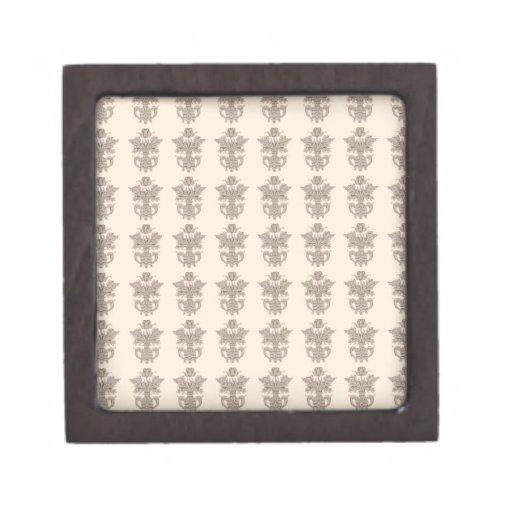 Vintage french floral art nouveau petit point premium gift boxes