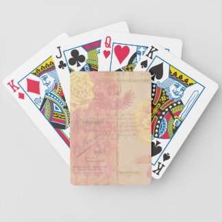 Vintage French Floral Bicycle® Playing Cards