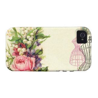 Vintage French Floral Dress Forms Case iPhone 4 Case
