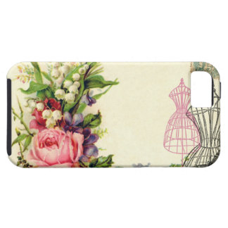 Vintage French Floral Dress Forms Case iPhone 5 Cover