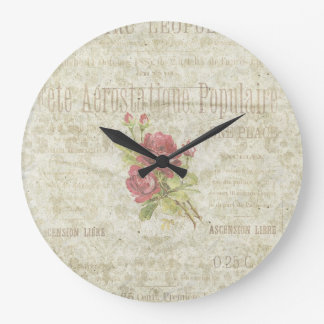 Vintage French Floral Wall Clock
