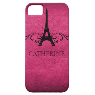 Vintage French Flourish BT iPhone 5 Case, Pink iPhone SE/5/5s Case