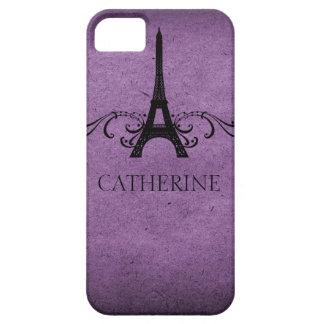 Vintage French Flourish BT iPhone 5 Case, Purple iPhone SE/5/5s Case