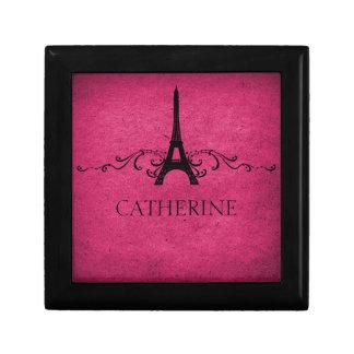 Vintage French Flourish Gift Box, Pink Keepsake Box