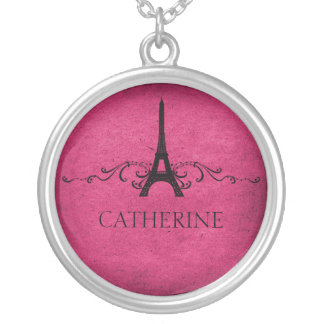 Vintage French Flourish Necklace, Pink