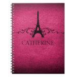 Vintage French Flourish Notebook, Pink
