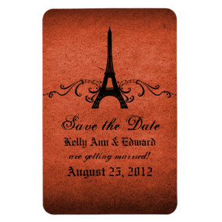 Vintage French Flourish Save the Date Magnet
