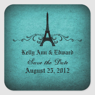 Vintage French Flourish Save the Date Stickers
