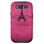 Vintage French Flourish SG S3 Case, Pink Galaxy SIII Covers