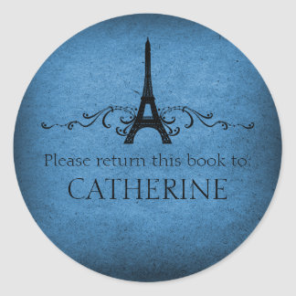 Vintage French Flourish Stickers, Blue