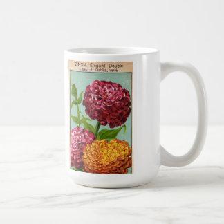 Vintage French Flower Garden Seed Packet Label Mug
