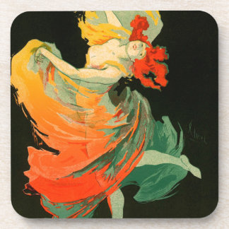 Vintage French follies bergere Drink Coaster