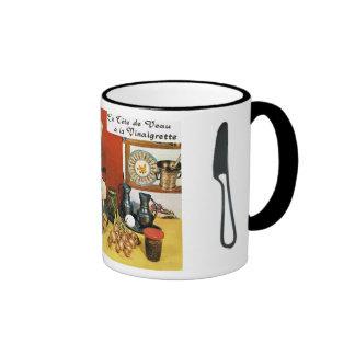 Vintage French Food, La tete de vaux Ringer Mug