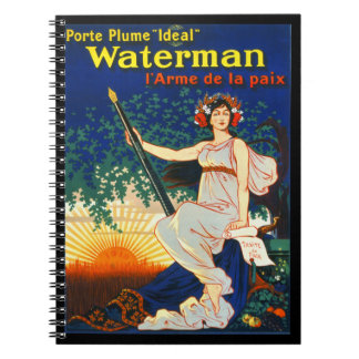 Vintage French Fountain Pen Advertisement 1919 Notebook