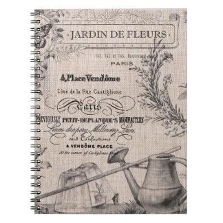 Vintage French Garden notebook