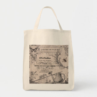 Vintage French Garden tote bag