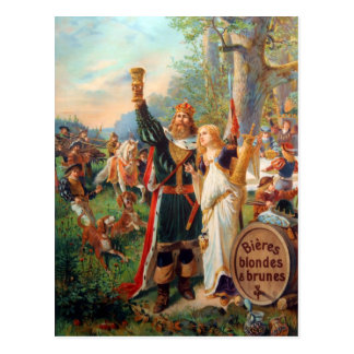 Vintage French Grande Brasserie Beer Advertisement Postcard