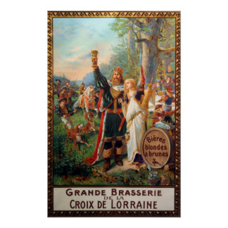 Vintage French Grande Brasserie Beer Advertisement Poster