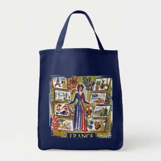 Vintage French Graphic Design Tote Bag