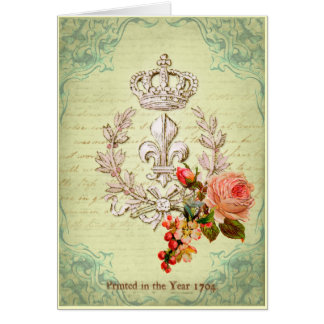 Vintage French Greeting Card