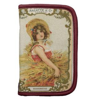 Vintage French Harvest Girl Planner