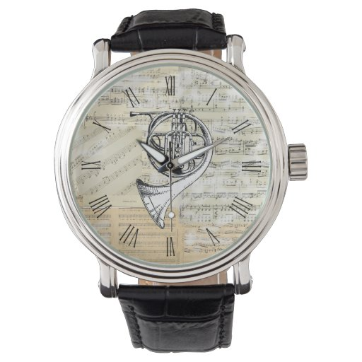 Vintage French Horn Music Watch