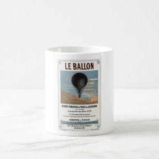 Vintage French Hot Air Balloon Advertisement Coffee Mug