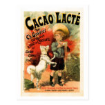 Vintage French hot chocolate drink ad Postcard